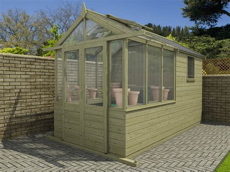 our new greenhouse shed combo range dunster house