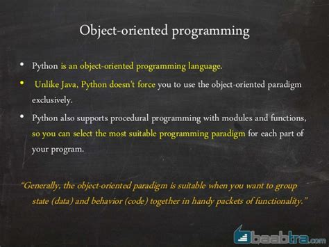 tutorial python object oriented programming object oriented programming in python