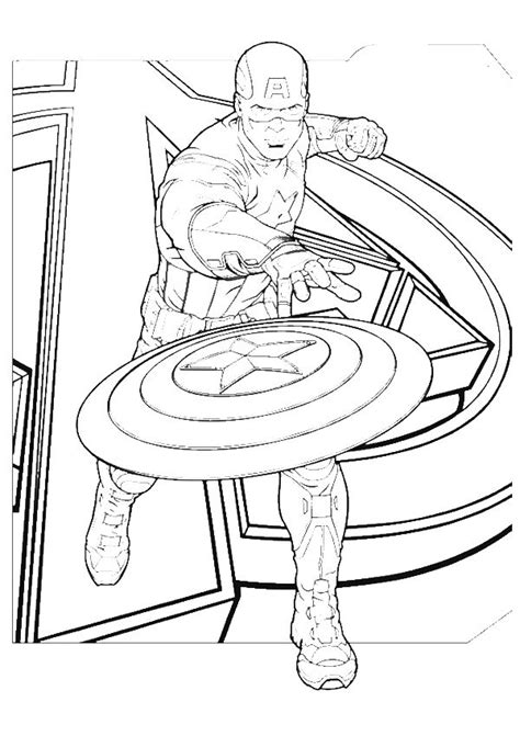 30 Captain America Coloring Pages Coloringstar Captain America Civil War Coloring Pages