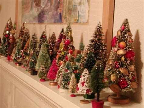 small decorative christmas trees for mantle christmas