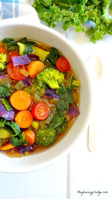 Detox Soup Vegetarian by Cleansing Detox Soup The Glowing Fridge