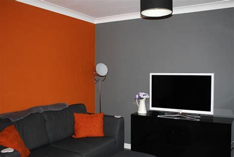Orange And Grey Room Decor by Orange Grey Living Room Lounge Home