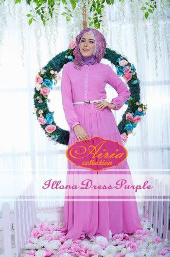 Terlaris Gamis Syari Vina Lavender Ungu Baju Gamis Pesta Mode Baju M illona summer purple baju muslim gamis modern