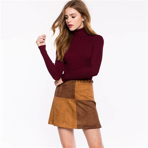 Pretty Trutleneck Sweater Maroon roll neck white ribbed sweaters basic burgundy