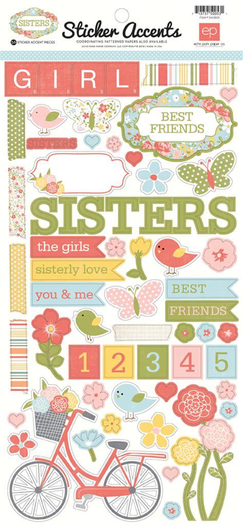 Floral Prints Collections Echo Park Paper Co Sisters