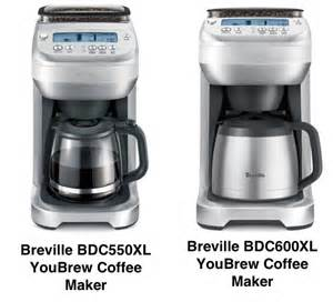 Breville Coffee Maker With Grinder The Difference Between Breville Bdc600xl Vs Bdc550xl