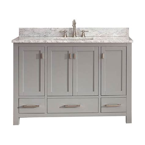 48 Inch Bathroom Vanity Cabinet Modero Chilled Gray 48 Inch Vanity Only Avanity Vanities Bathroom Vanities Bathroom Furnit