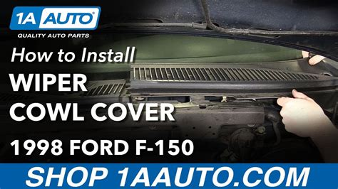 how to remove wipers from a 2008 ford taurus how to remove reinstall windshield wiper cowl cover 1998 ford f 150 youtube