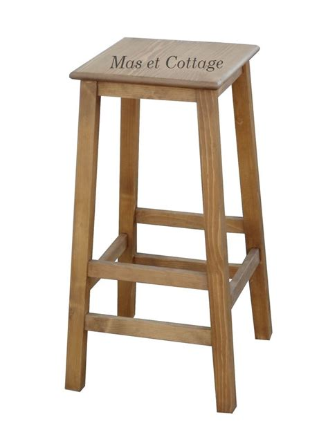 tabouret de bar pin massif anglais