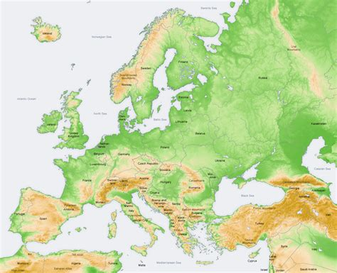 geographical map of europe geographical map of europe roundtripticket me