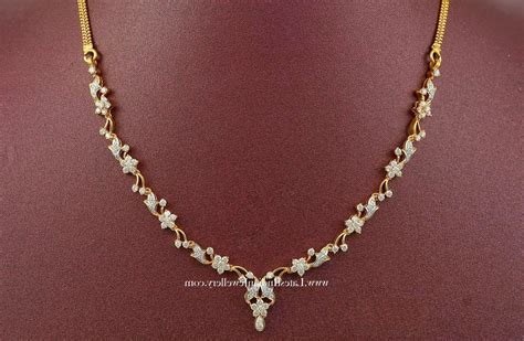 simple necklace designs simple and light weight indian necklace