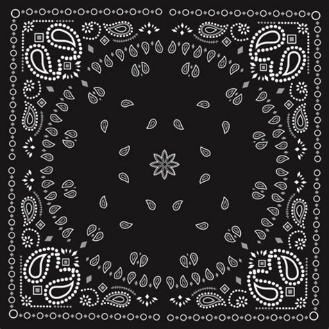 bandana pattern font black with white bandana patterns design vector 01