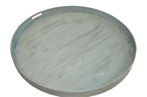 round trays for ottomans distressed light turquoise round ottoman tray 28