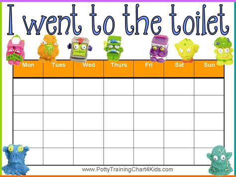 bathroom chart trash pack potty training charts