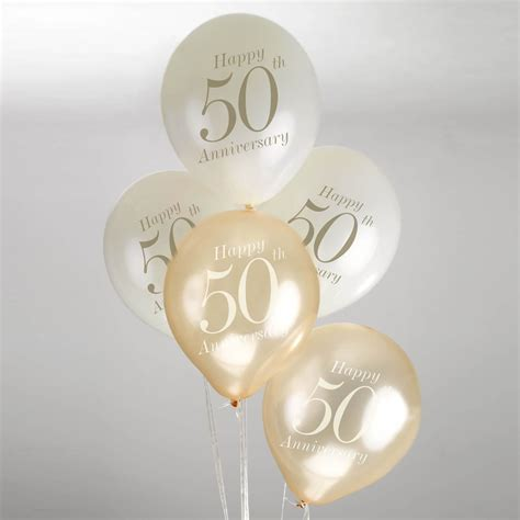 Wedding Anniversary Balloons by 50th Wedding Anniversary Balloons Ivory Gold
