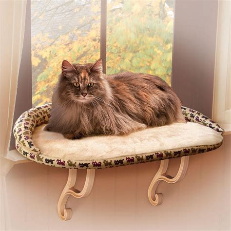 deluxe pet cat window seat perch k h sill bolster deluxe cat window perch petco