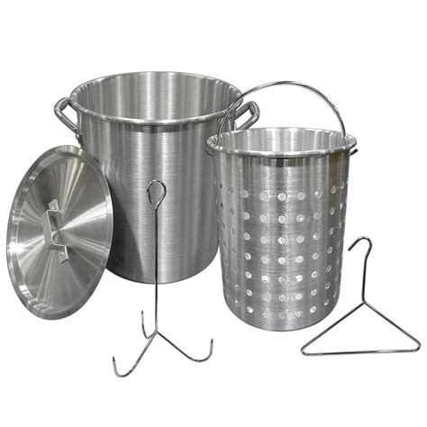 10 Quart Aluminum Fryer Pot - 28 quart aluminum fryer pot carolina cooker 39590
