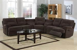 furniture sleek black leather sectional recliner