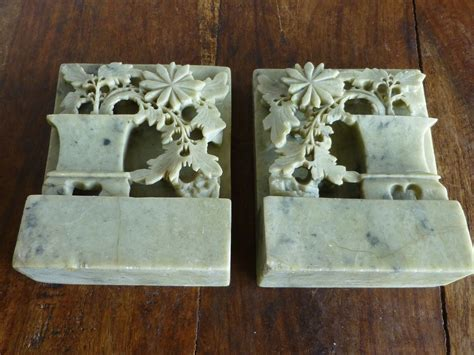 Soapstone Bookends antique carved soapstone bookends from historique on ruby