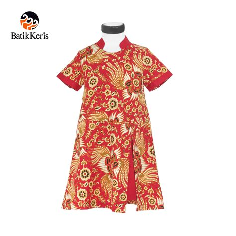 Blouse Anak Blus Anak Merah Motif Frozen rok terusan anak batik motif kukilo selaras kombinasi
