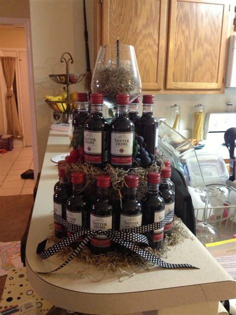 wine birthday candle wine cake using spanish moss cake rounds mini wine