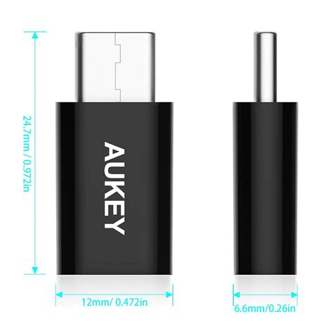 Aukey Hi Speed Type C Micro Usb Cable Data Charger For Android aukey cb a2 usb c to micro usb adapter usb type c to micro usb converter