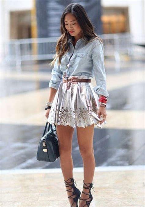 41 womens denim shirt ideas skirts