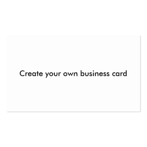 Create Your Own Business Card Zazzle