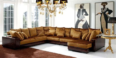 Expensive Leather Couches by 15 Collection Of Gold Sectional Sofa Sofa Ideas