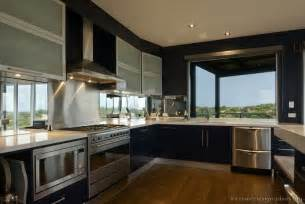 modern kitchen interiors modern blue kitchen cabinets pictures design ideas