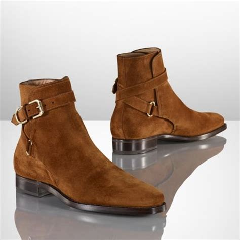 ralph macon suede boot in brown for lyst