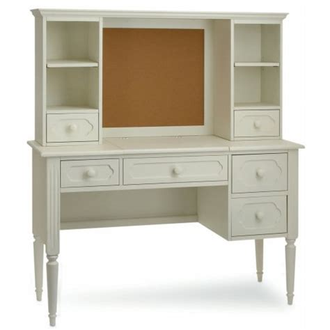 Kids Bedroom Allie Vanity Desk With Hutch Antique White White Hutch Desk