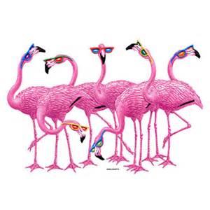 Painting Blinds White Pink Flamingos Wearing Sunglasses T Shirt