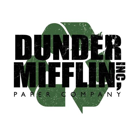 Dunder Mifflin the office dunder mifflin recycle white and black mug