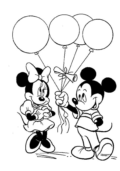 mickey mouse balloon coloring pages balloons coloring pages mickey mouse with balloons
