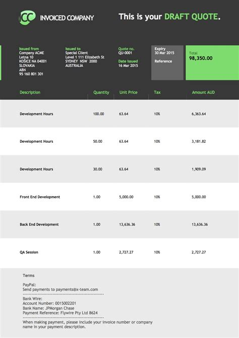 templates for xero xero invoice templates free printable invoice