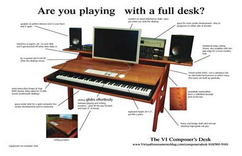 computer desk for home studio pull out stands for digital pianos digital pianos