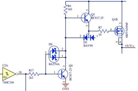 transistor high side driver axotron
