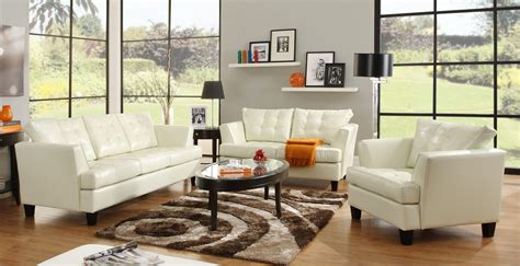 White Leather Chairs For Living Room White Leather Living Room Sofa Living Room