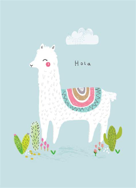 cute llama pattern aless baylis for petite louise hola llama print