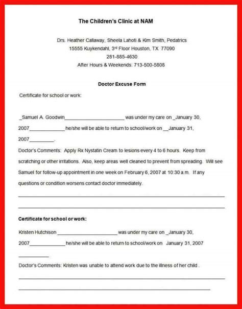 dental notes templates dental excuse note sle apa exle