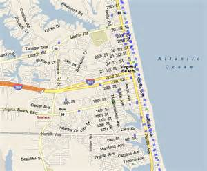 Map Of Virginia Beach Va by Virginia Beach Boardwalk Hotel Map Pictures To Pin On