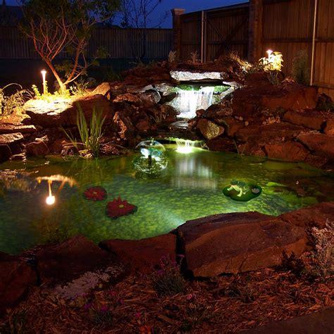 algreen pond kit with solar lighting wayfair