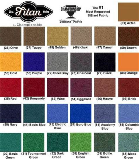 How To Change The Felt On A Pool Table Pool Table Color Options 8 Pool Tables 727 278 9071