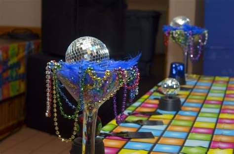 disco decorations favors ideas - 70s Theme Decorations Ideas