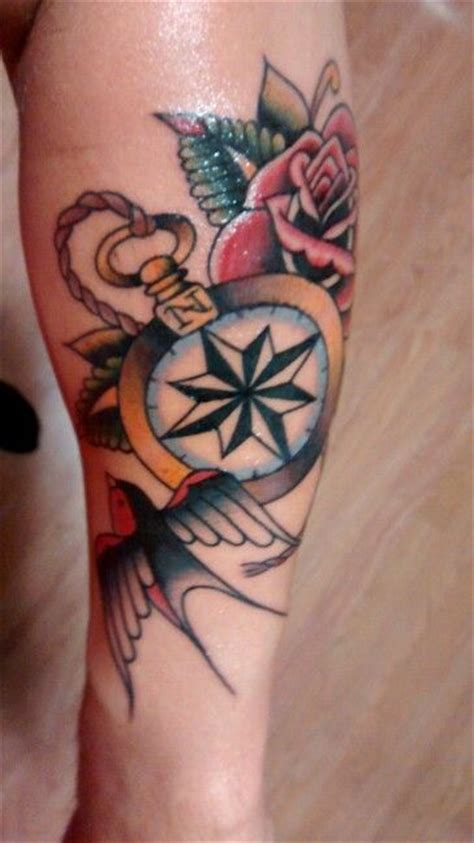 traditional compass tattoo tattoo pinterest compass