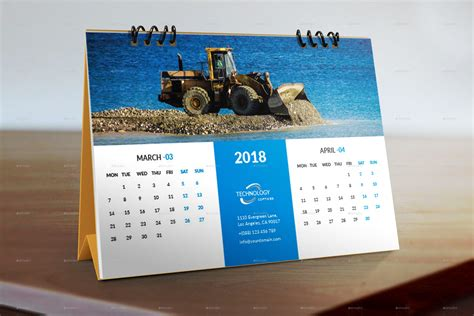 2018 Calendar Desk Desk Calendar 2018 By Graphicstar10 Graphicriver
