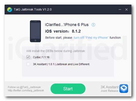 a jailbreak of ios 8 0 to 8 1 2 released by taig 1 2 0 gsm forum