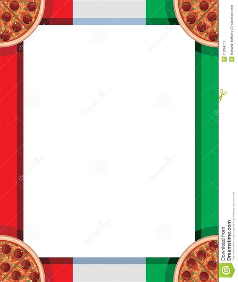 Border Clipart 1193476 Illustration By by Italian Pizza Border Stock Illustration Illustration Of