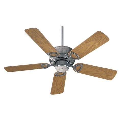 galvanized outdoor ceiling fan quorum international 143425 9 galvanized outdoor ceiling